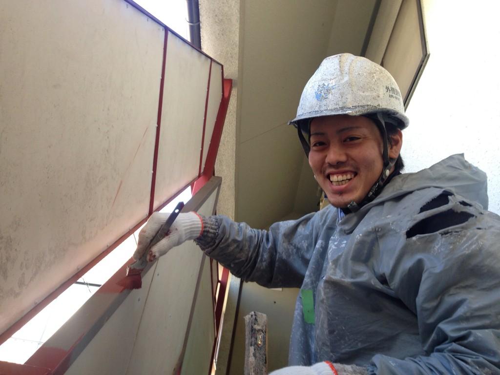 外壁塗装の清水屋さんの職人さん