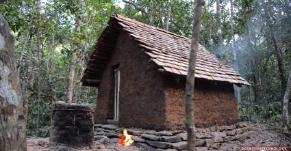 原始的な小屋の建て方_完成