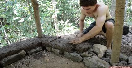 原始的な小屋の建て方_土壁